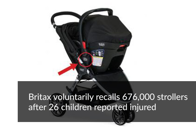 Britax voluntarily recalls 676,000 strollers after 26 children reported injured