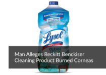 Man Alleges Reckitt Benckiser Cleaning Product Burned Corneas